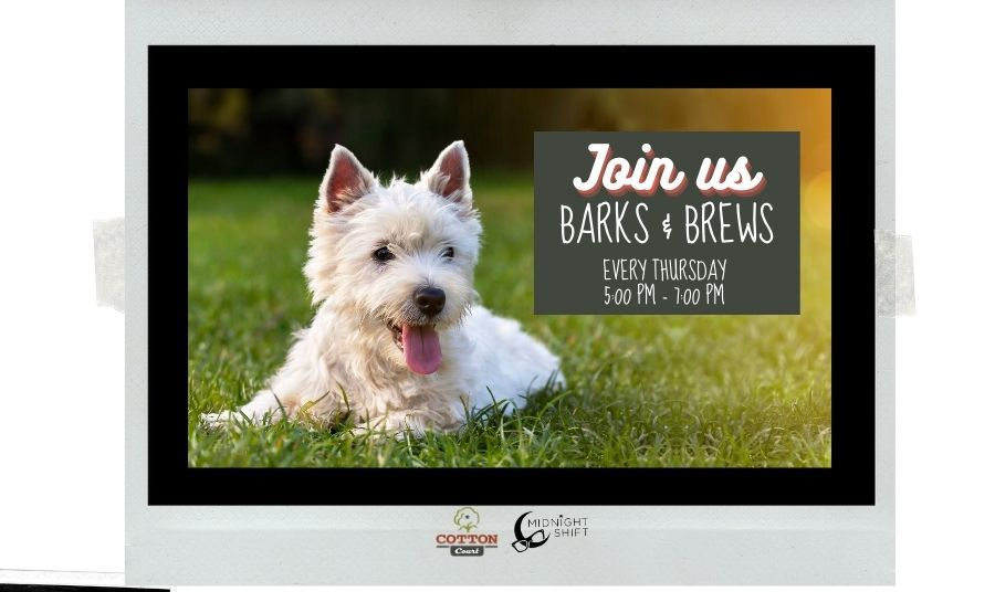 Barks and Brews Pet Event every Thursday