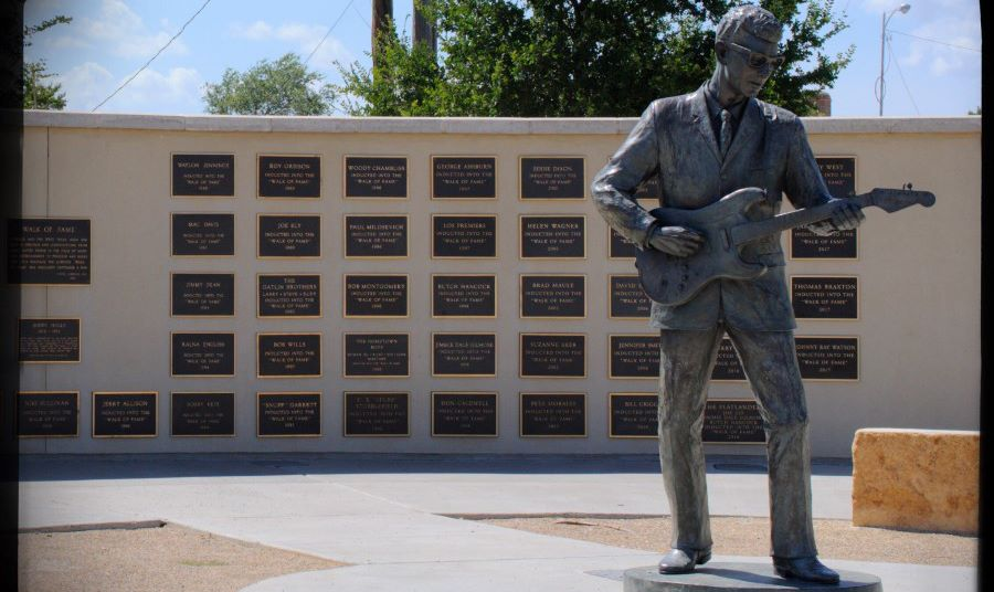 Buddy Holly Statue and the West Texas wall of fame